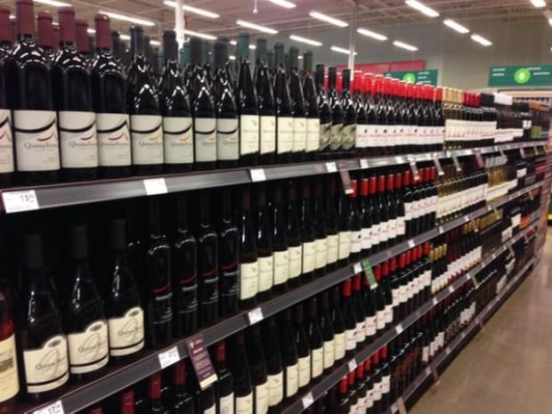 Wine on shelf