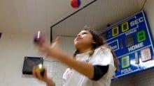 Mackaylah Roussin juggling