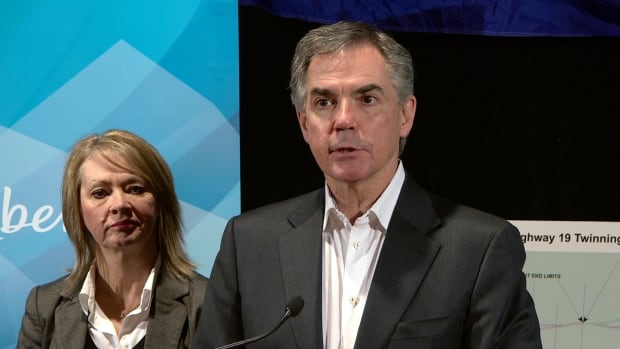 Premier Jim Prentice defended the purchase of four 80-inch televisions to video-conference cabinet meetings.