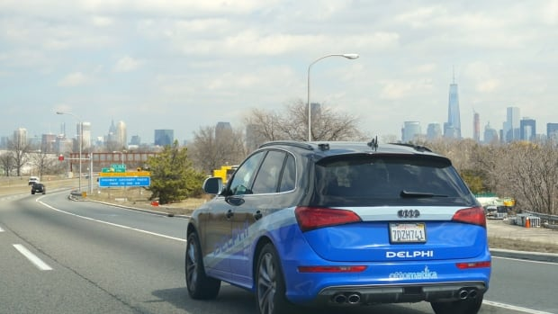 Delphi's autonomous car approaches New York City, its final destination of a 5,500-kilometre road trip across the U.S. Ninety-nine percent of the time, the car steered itself, the company said.