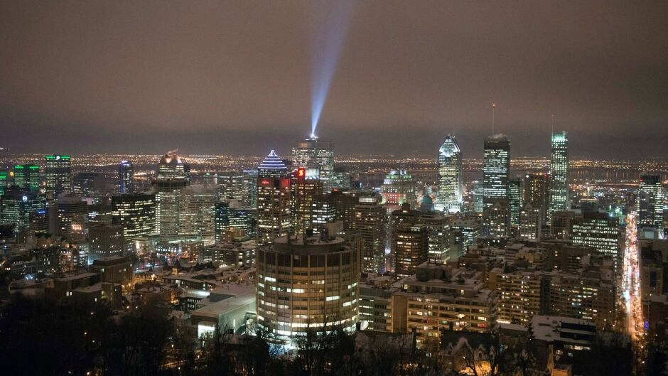 The downtown Montreal skyline.