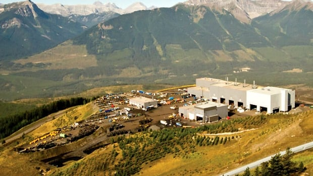 Teck Resources' Greenhills coal mine, pictured above, is located near Elkford. It is one of three mines under an evacuation alert Wednesday.