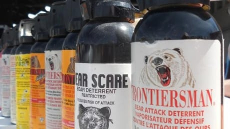 Bear attack deterrent spray