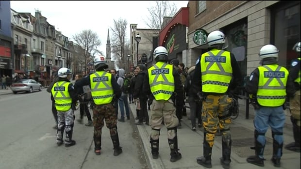 Montreal police rounded up student protesters Thursday afternoon, minutes after declaring the demonstration illegal.
