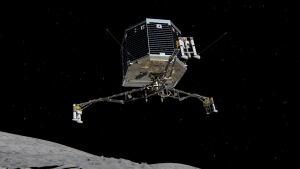 Philae lander descends on a comet