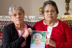 Sisters Jackie Leech and Bonnie Angel, in picture Lorna Ormandy