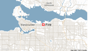 Vancouver warehouse fire.