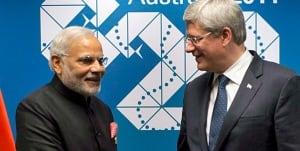 Indian PM Harper 20150412