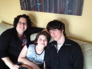 Amanda, Alexis and Eric Knox