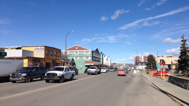 A view of Second Avenue in downtown Whitehorse.