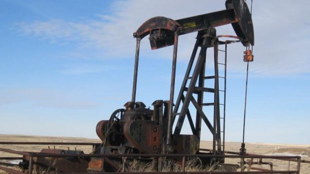 This oil well is being reclaimed by the Orphan Well Association, which is funded by industry to reclaim wells that have been abandoned by companies that simply don't have the cash or assets to pay for reclamation.