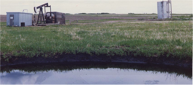 Orphan well in Alberta