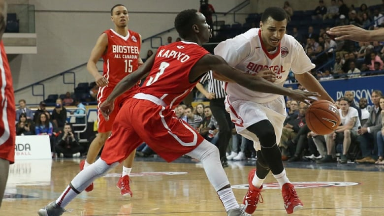 a7d291e5e Canada s top young basketball talent play inaugural all-star game. Jamal  Murray ...