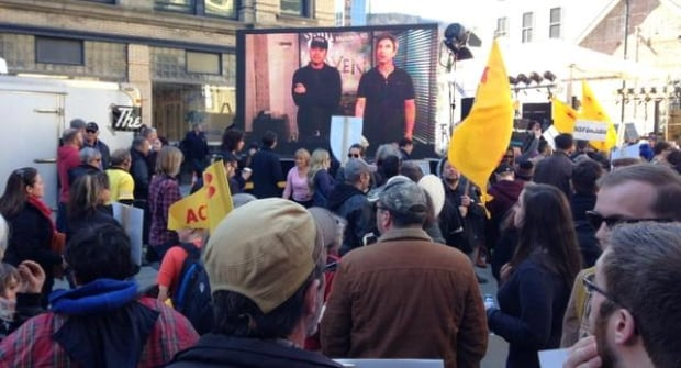 Thousands protested the planned cuts on Wednesday.