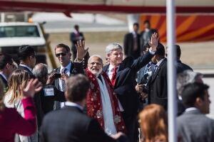 Narendra Modi arrives in Toronto