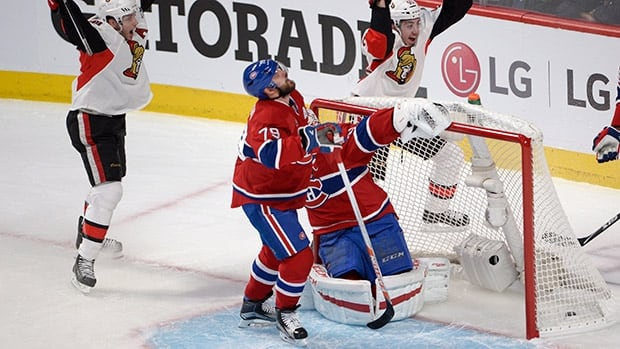 Montreal hockey score