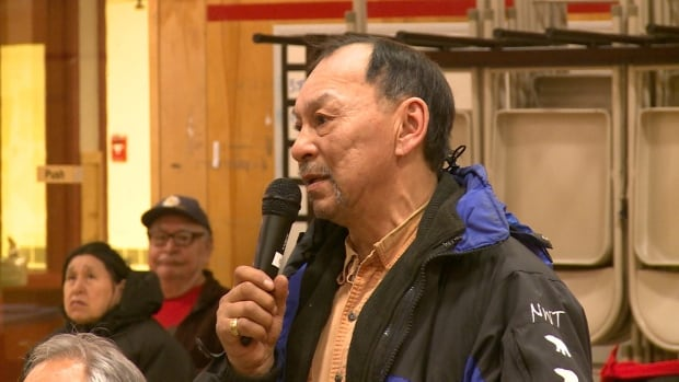 James Pokiak was one of several residents who spoke of environmental concerns regarding plans to drill in the Beaufort Sea. An environmental impact review of the plans has yet to begin.
