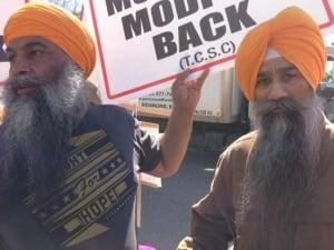 Modi protesters in Vancouver