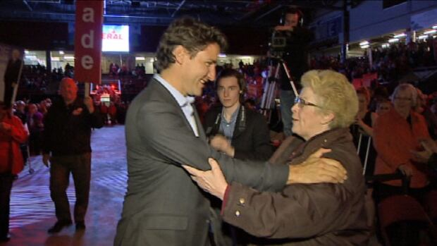 Justin Trudeau's appearance at a P.E.I. Liberal rally in Summerside left some loyal party members star struck.