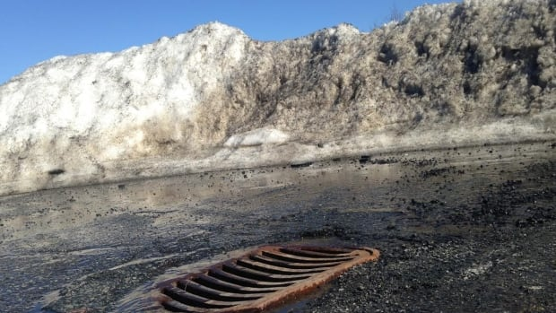 Snow melts in Saint John in 2015.