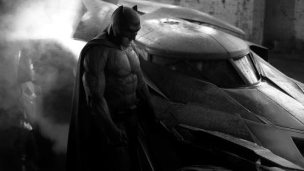 Ben Affleck is seen as Batman, in a promotional image for Batman v Superman: Dawn of Justice.