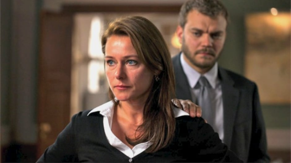 "Danish actors Sidse Babett and Pilou Asbaek from the hit Danish series ""Borgen."""