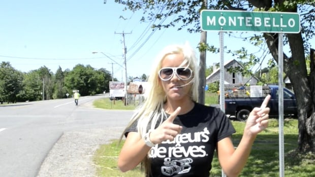 Pornography actress Pamela Kayne was featured in a film made at the 2014 Montebello Rockfest, as this scene shows.