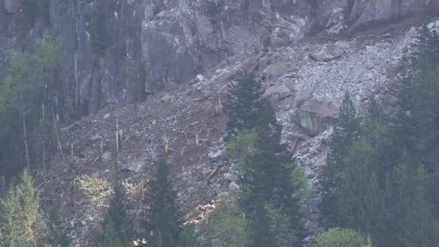 Stawamus Cheif rock slide damage