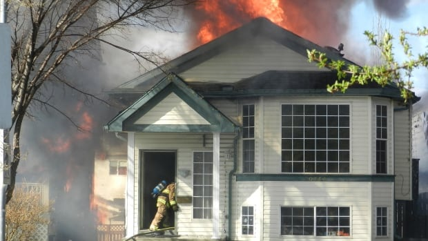 Four home were affected by the fire, no injuries were reported.