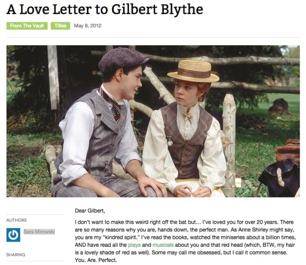 Love letter Gilbert Blythe