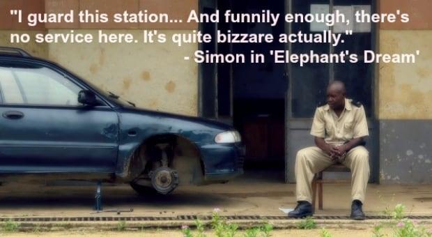 Simon Train Station 'Elephant's Dream'