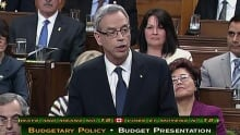 Joe Oliver's budget speech RAW