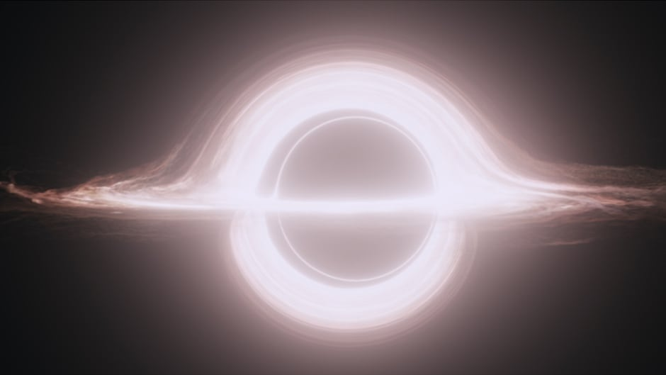 Black hole computer generated image from the movie Interstellar