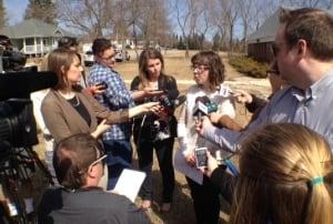 RCMP spokeswoman Mandy Maier speaks on Tisdale deaths
