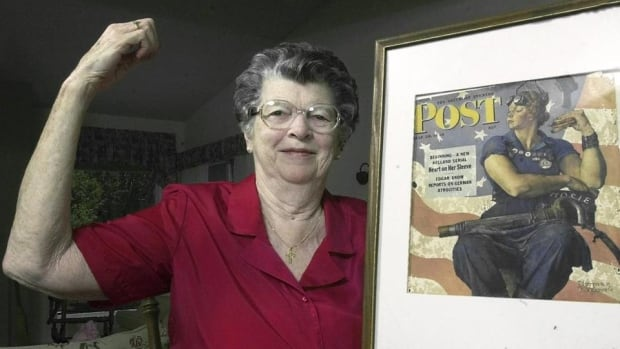 rosie the riveter model for norman rockwell painting dies at 92 cbc news. Black Bedroom Furniture Sets. Home Design Ideas