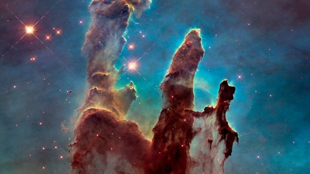 After more than 25 years in space, this image from the Hubble remains one of its most iconic. The so-called Pillars of Creation depicts a jet-like feature astronomers say has grown by about 60 billion miles based on comparisons of pictures taken between 1995 and 2014. The Hubble was launched on April 24, 1990.