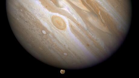 SPACE-HUBBLE April 9 2007 Jupiter moon Ganymede