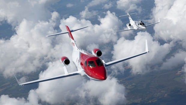 The HondaJet was designed to look like a Ferragamo shoe and will be touring on the airshow circuit this year.