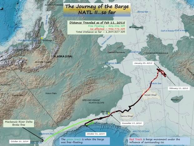 WWF Barge Map
