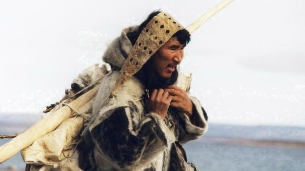 Natar Ungalaaq in a scene from the 2001 movie Atanarjuat:The Fast Runner by Inuk filmmaker Zacharias Kunuk.
