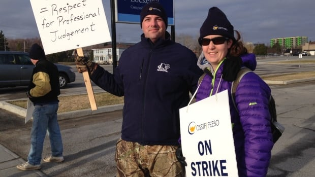 Rainbow secondary teachers in the Sudbury area have been walking picket lines since April 27.
