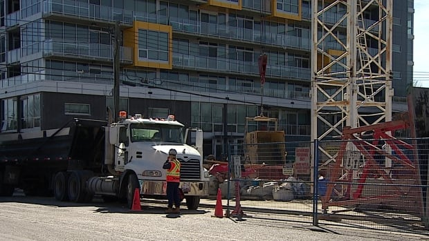 A condo is under construction in Calgary's northwest.