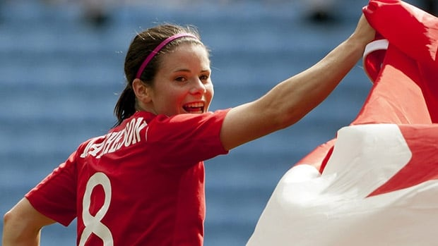 Diana Matheson helped Canada win a bronze medal at the 2012 London Olympics.