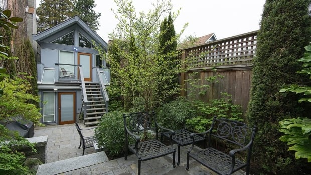 The thin home on West 15th in Point Grey was listed by Realtor Kristy Mattiazzo at $1.35 million.