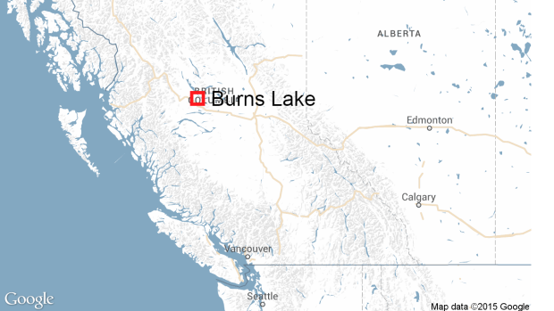 Burns Lake B.C. map