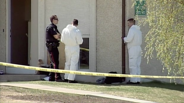 Police in Lethbridge say the three people were found dead inside a townhouse in the city's west end last week were stabbed to death.