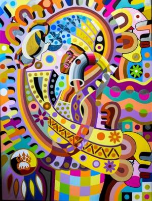 Gibril Bangura painting