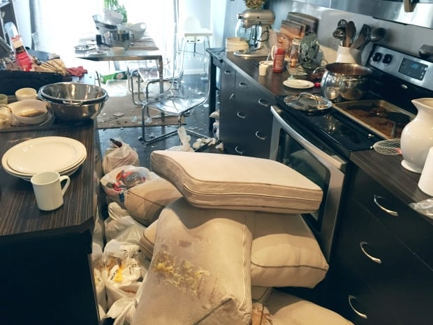 Kitchen trashed