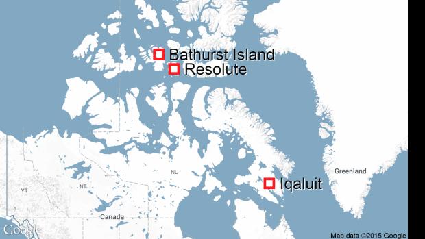 Bathurst Island map