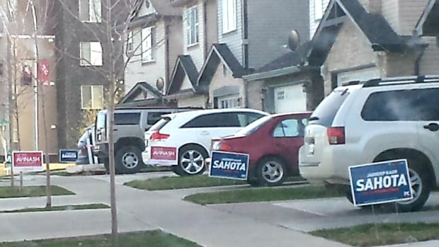 A Calgary couple wants an explanation after they say a PC election volunteer got a little overzealous door-knocking at their northeast home on the weekend.
